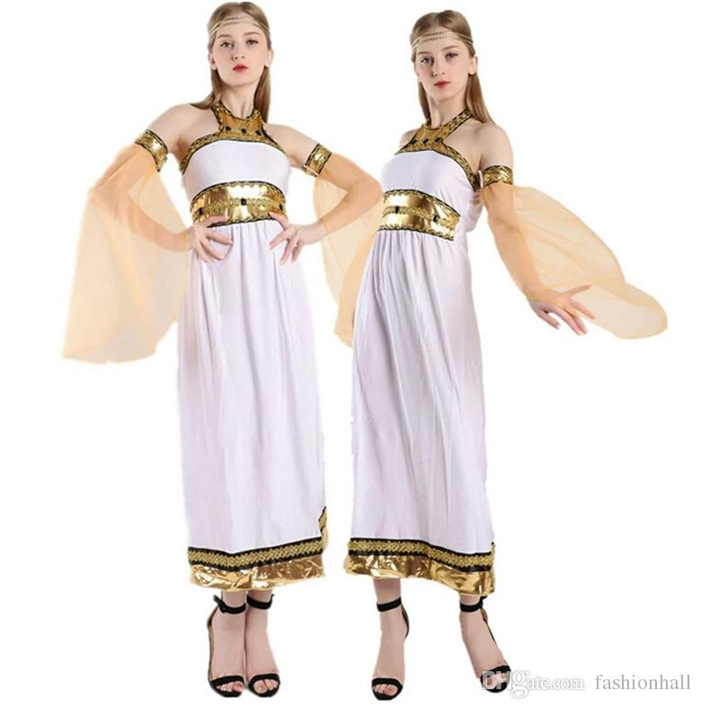 2018 Arab Queen Greece Princess Cosplay Costume Women Medieval Victorian Evening  Dress Halloween Costume Ball Gown Dress Theme Costume Kids Party Costumes  ... 3ff7a8ad0463