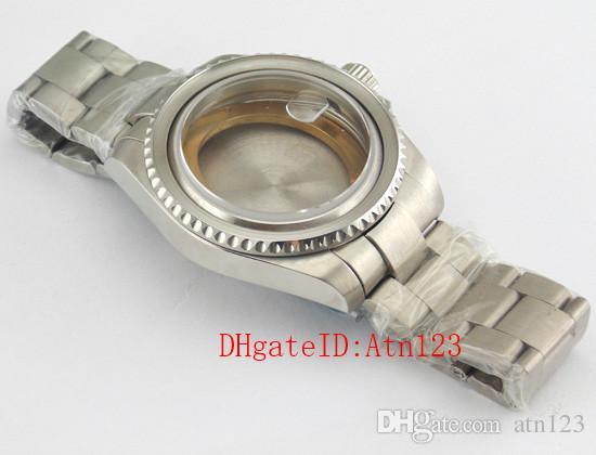 43mm Silver 316L Stainless Steel Sapphire Glass Wrist Watch Case Fit ETA2836 ETA 2836 Mingzhu DG2813/3804 Movement Wristwatch Case P352