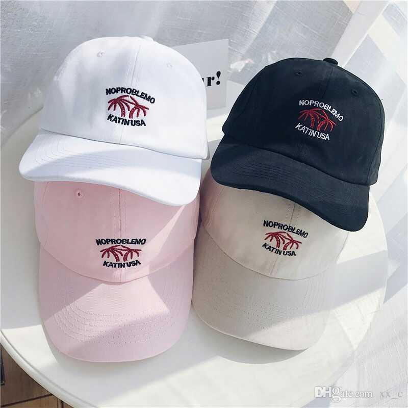 Nouveau modèle casquette de baseball Peaked rue de rue rétro blanc noir rose kaki mode populaire simples casquettes de baseball
