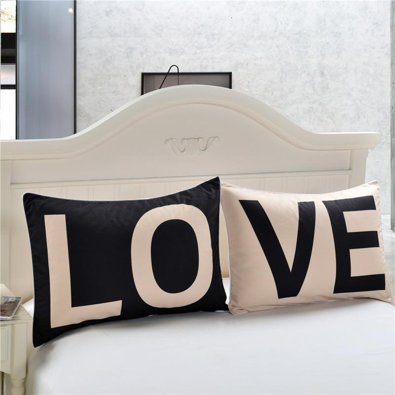 Promotion Love Together Pillowcase New Year Gifts Decorative Covers