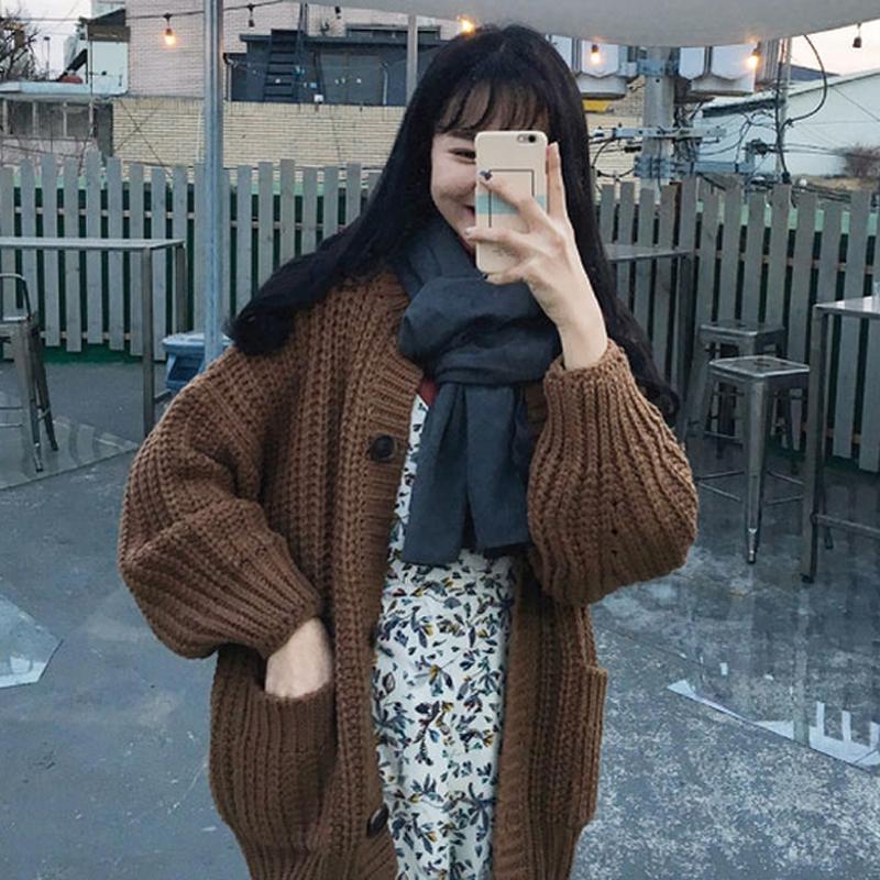 2b213c3f4da319 Großhandel 2 Farben Mihoshop Ulzzang Korean Korea Frauen Mode Kleidung  Lässig Adrette Lose Weben Pullover Strickjacke Von Worsted, $56.49 Auf  De.Dhgate.