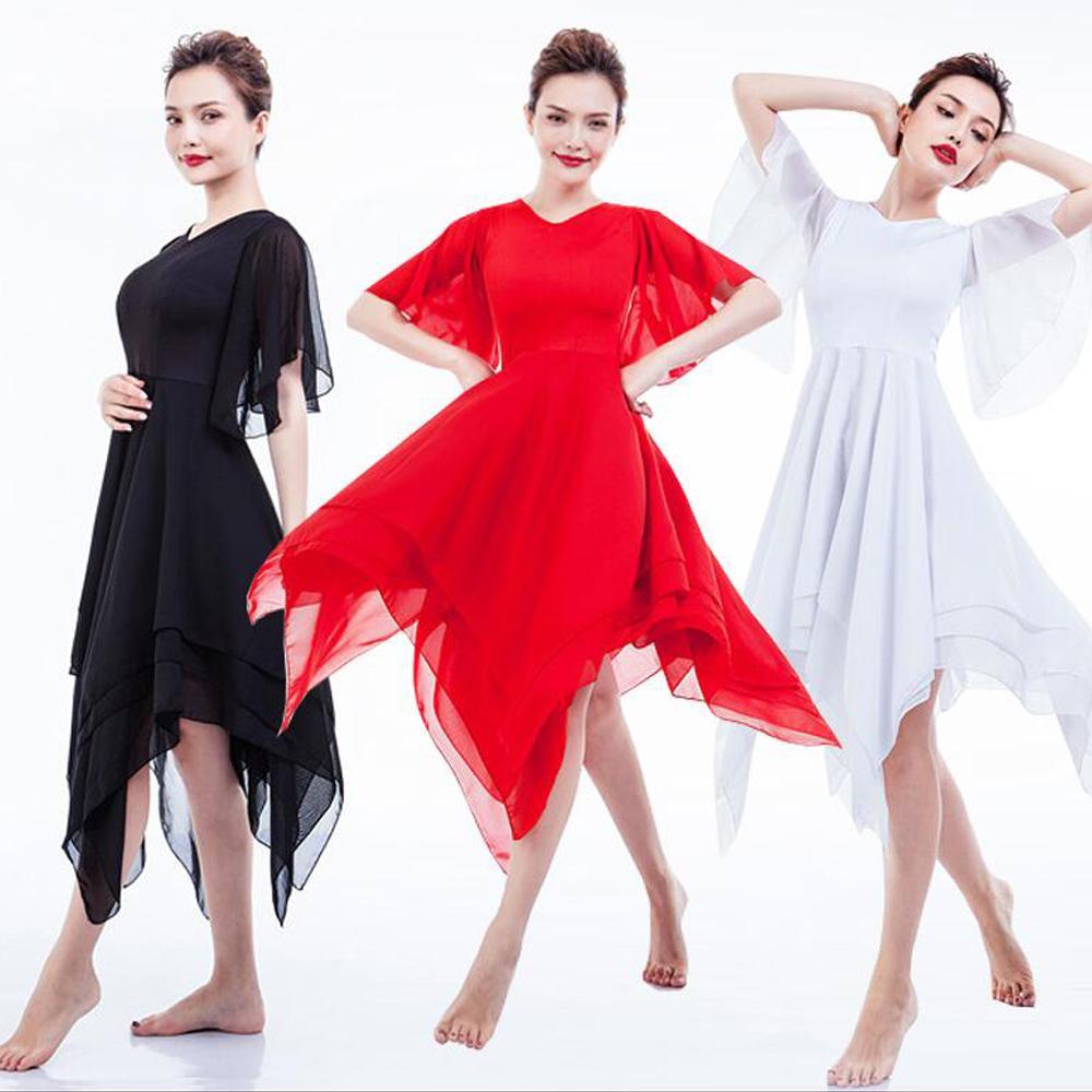15bc48c516b7 2019 Women Elegant Lyrical Modern Dance Costumes Ballet Dress Girls ...