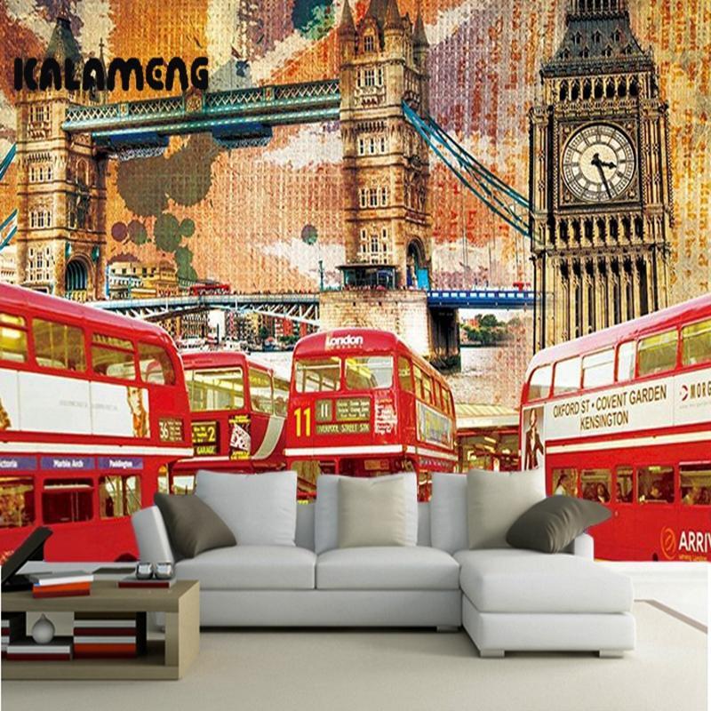Kalameng custom 3d wallpaper design london bus photo kitchen bedroom living room wall murals papel de parede para quarto desktop wallpapers free desktop