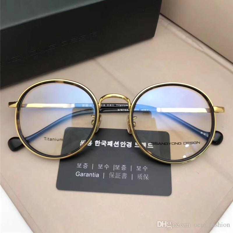 9155816bea82 2018 Luxury Titanium Alloy Optical Sunglasses Men Women Eleglant Myopia  Sunglasses Classic Big Frame Reading Eyewear Round Glasses With Box  Discount ...