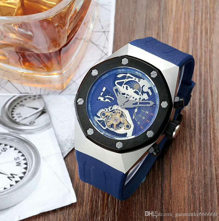 Top Selling Luxury Watch Special Men Rubber Band Gold Stainless Steel Automatic Mechanical T Men Men's Watch Watches D2