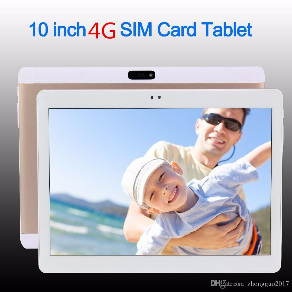 10 pollici Originale 4G Phone SIM card Android 7.0 Octa Core IPS WiFi GPS FM Tablet pc 4GB + 32GB Anroid 7.0 Tablet Pc