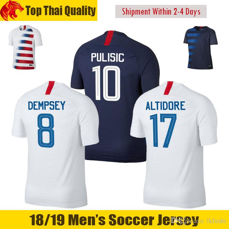 thai quality 2018 2019 usa pulisic soccer jerseys 17 18 america morris dempsey jersey united states