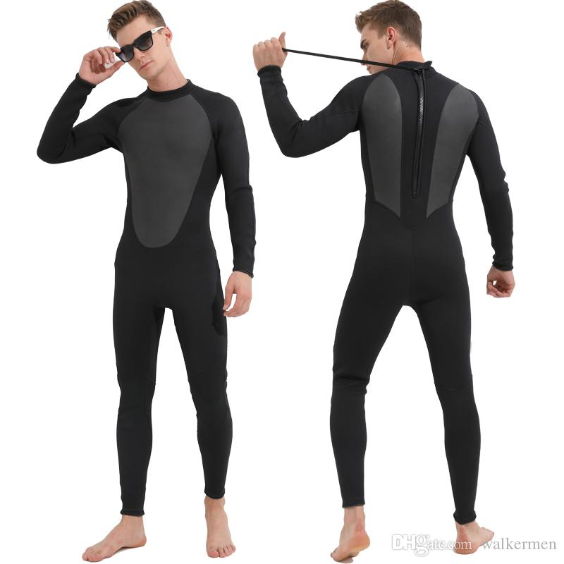 2019 Men 3mm Neoprene Spearfishing Wetsuit Black Triathlon Scuba Diving  Suits Anti Jellyfish Surf Sailing Underwater Hunting Wetsuits Jumpsuit J  From ... 46257627e