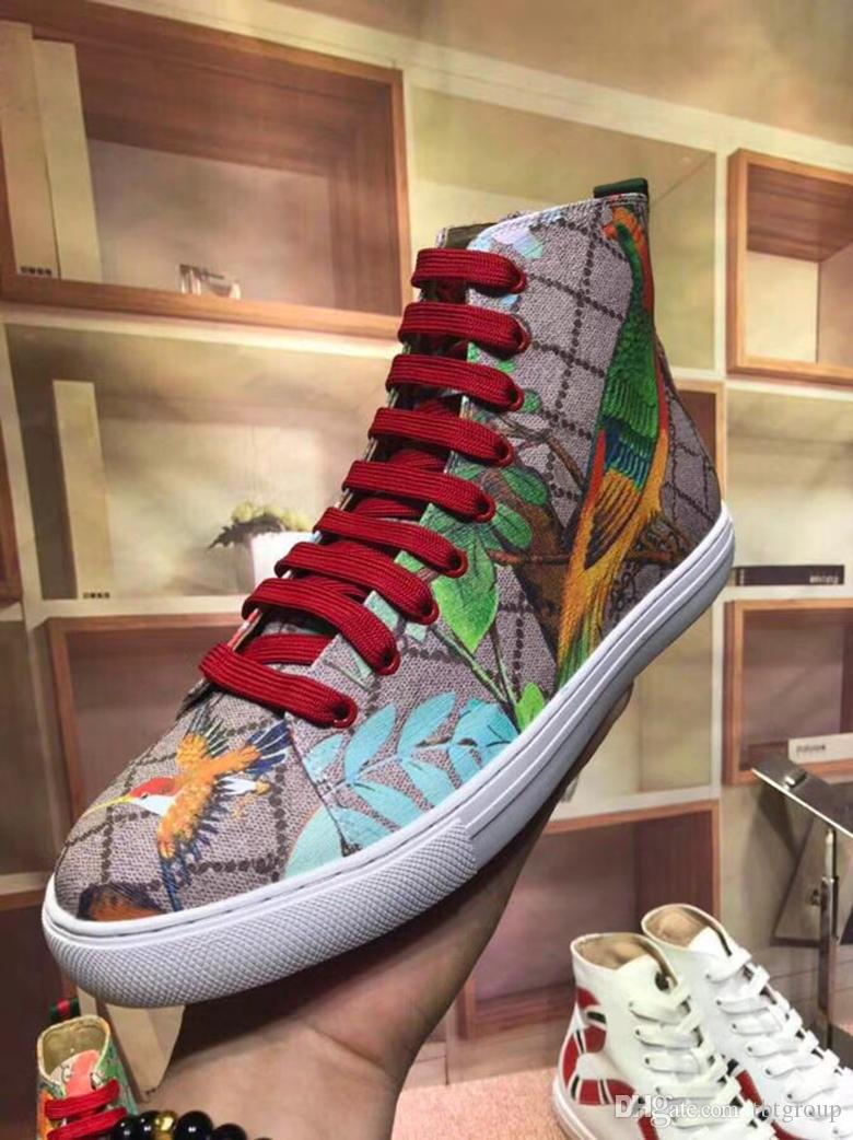 2cdecbb4b345b Latest Fashion Designer Sneakers Leather High-top Shoes Angry Cat ...