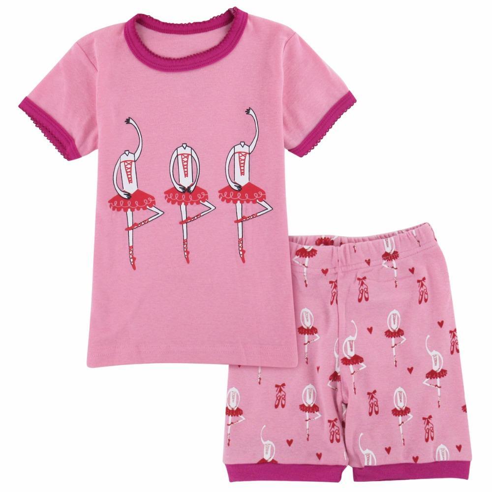 69de46878 Compre Pijamas Para Meninas De Verão Ballet Pijama Criança Terno De Casa  Pijama Crianças De Manga Curta Pijamas Crianças Roupas De Dormir Conjunto  De Roupas ...