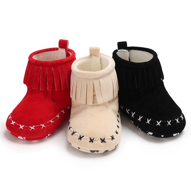 ce9aca1622a5 2018 Baby Girl Boy Boots Moccasin Moccs Newborn Kids Prewalker Solid Fringe  Shoes Infant Toddler Soft Soled Anti Slip Boots Booties From Universecp