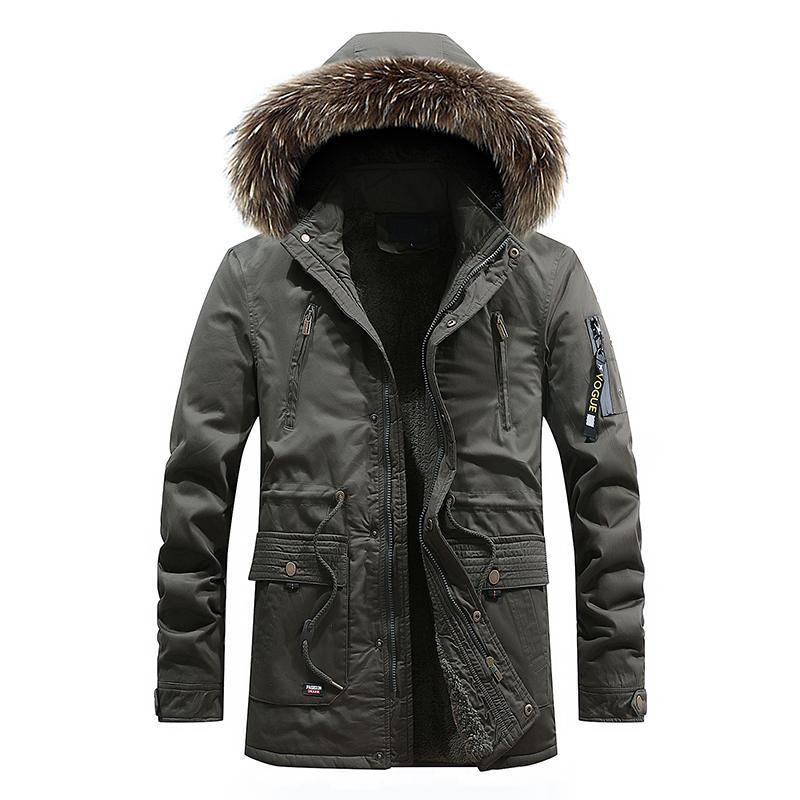 New 2018 Keep Warm Winter Jacket Men Fur Collar Hooded Casual