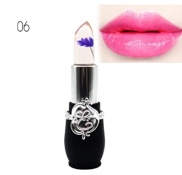 6 Styles Flower Crystal Jelly Lipstick Magic Temperature Change Color Lip Balm Makeup batom mate maquiagem maquillaje