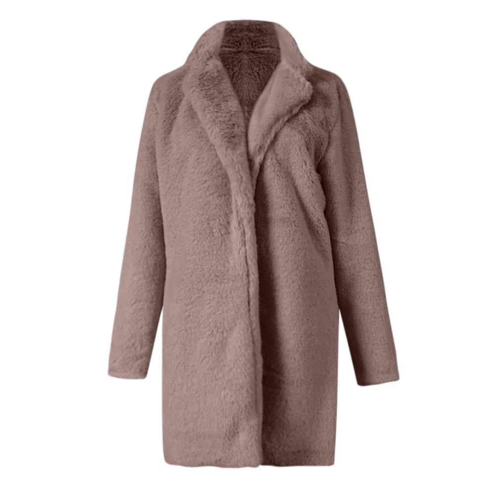 Compre YOUYEDIAN 2018 Damas Mujer Cálido Abrigo De Lana Artificial Chaqueta  De Solapa Abrigos De Invierno Invierno A  32.85 Del Redbud06  4ee2d39e9e8e