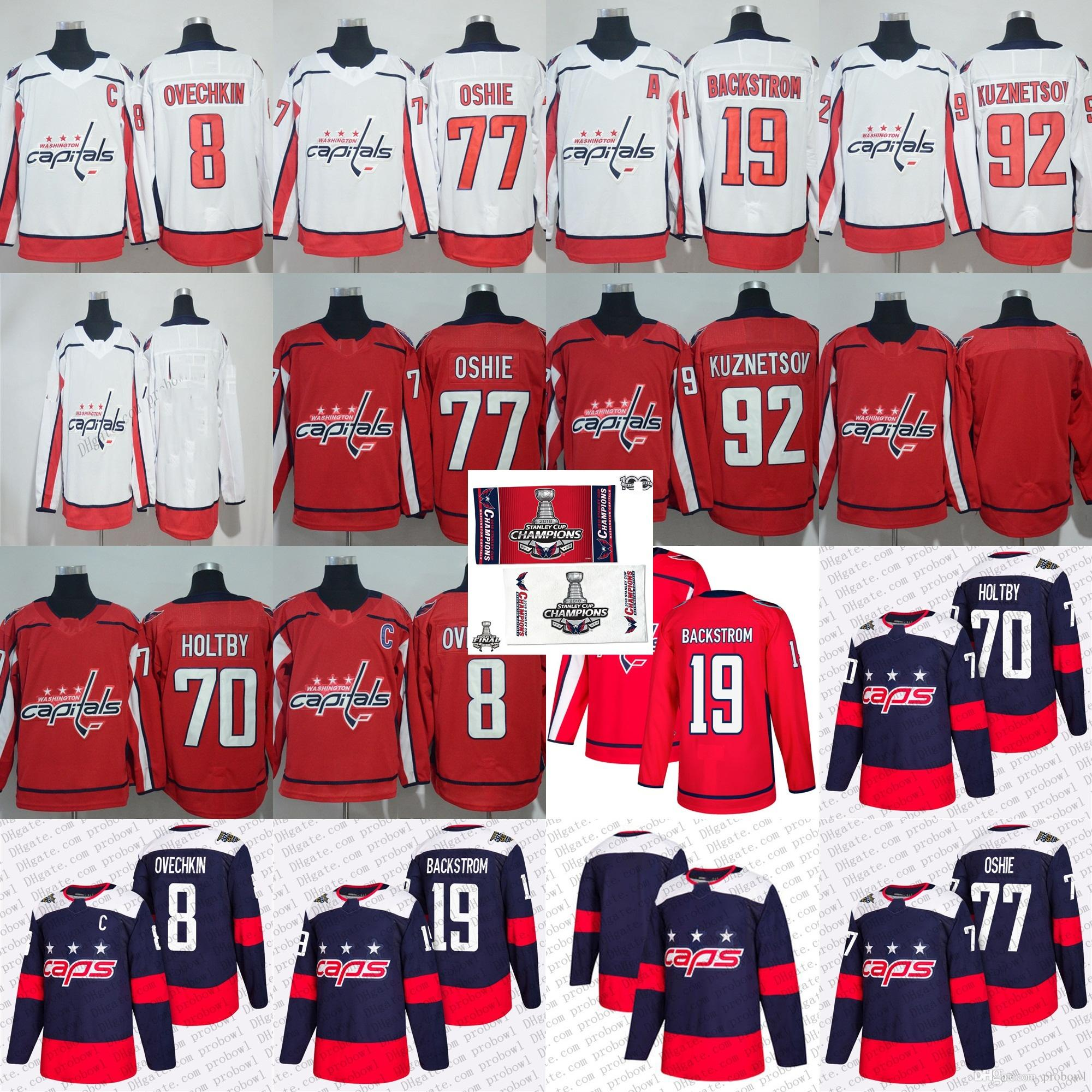 0e272896d 2019 2018 Stanley Final Stadium Series Champion Washington Capitals Alex  Ovechkin 77 TJ Oshie Braden Holtby Kuznetsov 19 Nicklas Backstrom Jersey  From ...