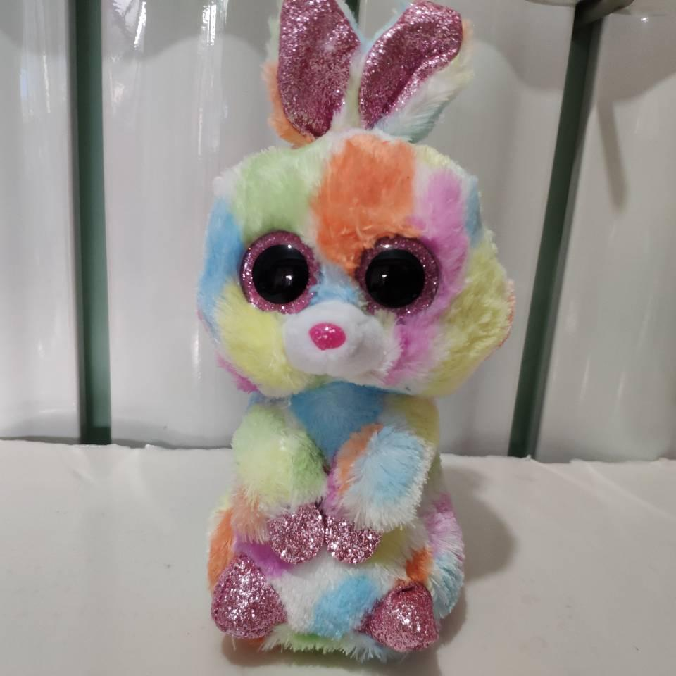 92ab087a794 2019 Bloomy Multicolor Bunny Rabbit TY BEANIE BOOS 15CM Plush Toys Stuffed  Animals Children Toy SOFT TOY Home Decor From Henryk