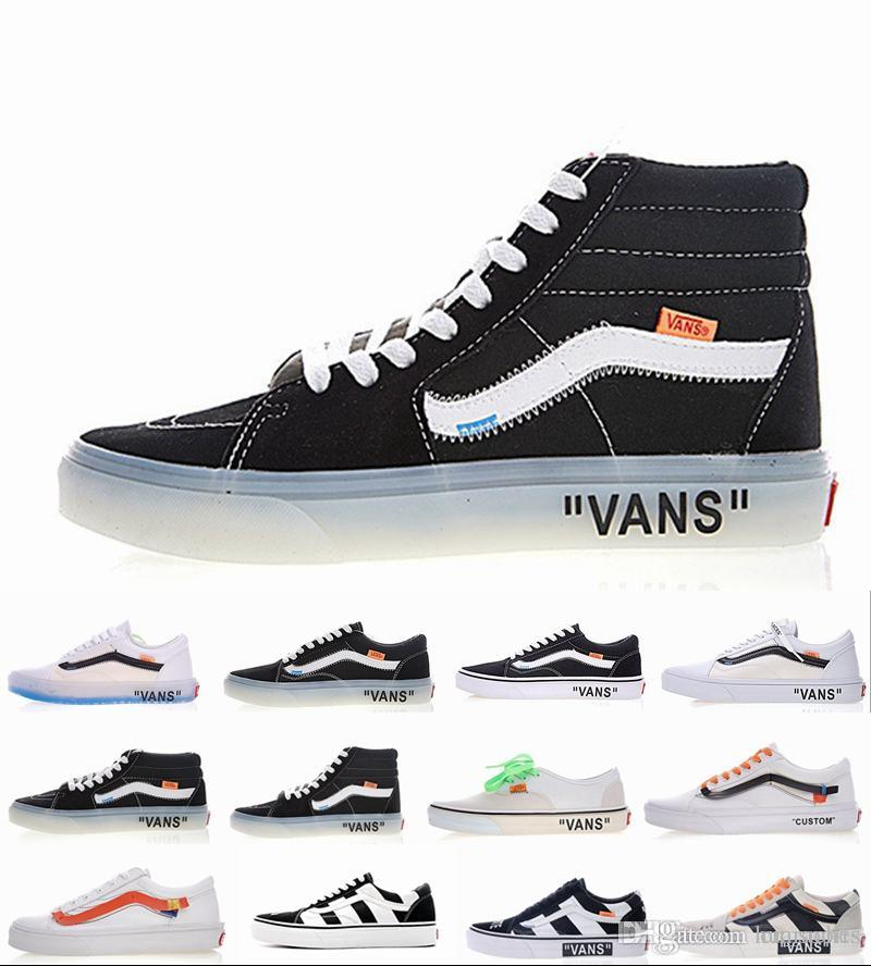 2018 New Athentic The Wall Old Skool Canvas Triple White Mens Woman  Designer Sports Skate Shoes Sneakers Women Casual Off Trainers Designer Shoes  Running ... 0d7354870