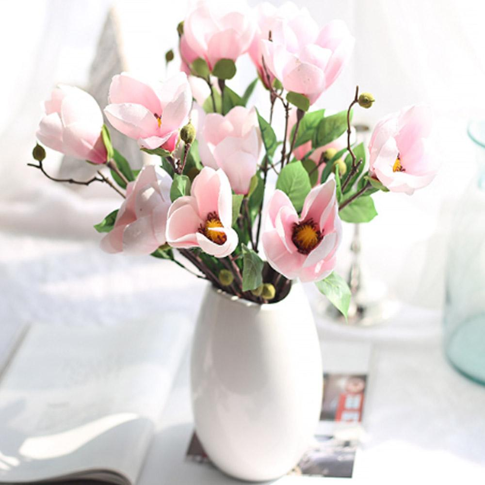 Wholesale 42cm Artificial Flower Silk Fake Yulan Plant Flowers For