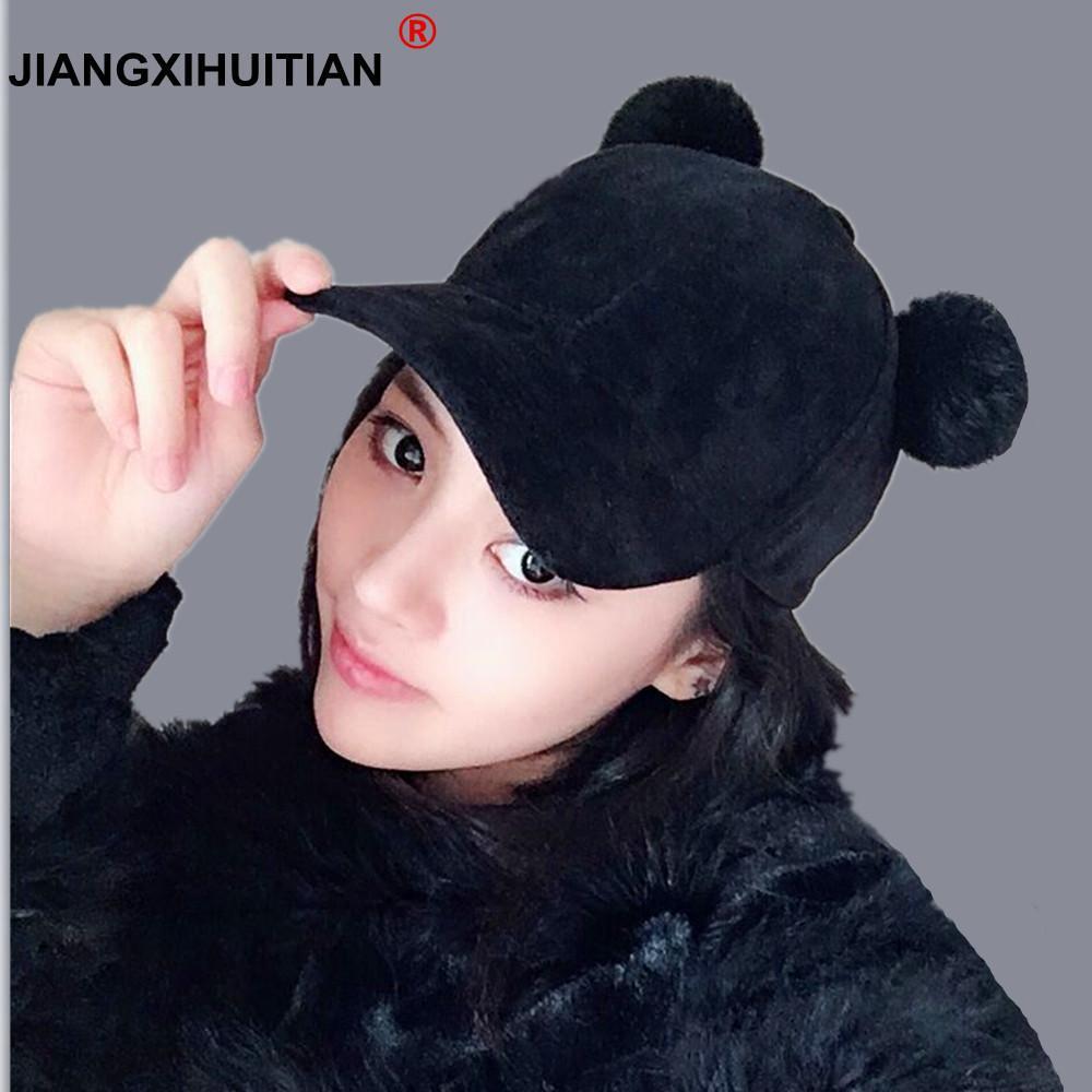 d379937c68e 2018 New Women Cat Ear Velvet Winter Cap Soft Fashion Hats For Women Hip  Hop Solid Color Lovely Super Warm Girl Baseball Caps Lids Hats Visors From  Glioner