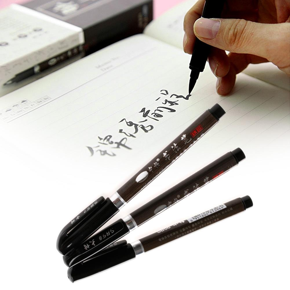 1PC Chinese Japanese Water Ink Painting Writing Brush Calligraphy Pen Art  Tool MEDIUM school office supply stationery D14
