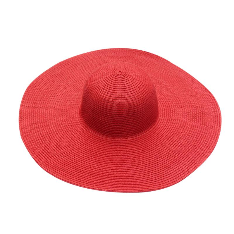 7a2180f56c5 BONJEAN Hot!!!2017 New Fashion Summer Women s Ladies  Foldable Wide Large  Brim Floppy Beach Hat Sun Straw Hat Cap Cool Hats Panama Hats From  Value333
