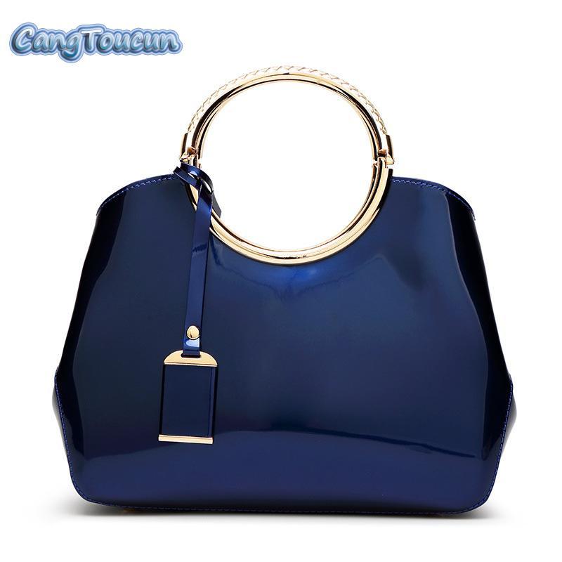 90d915e36ced CANGTOUCUN Women Totes Fashion Leather Handbags Luxury Women Shoulder Bags  Solid Crossbody Bag Black Evening Bags Sac S 42 Silver Handbags Hobo From  ...