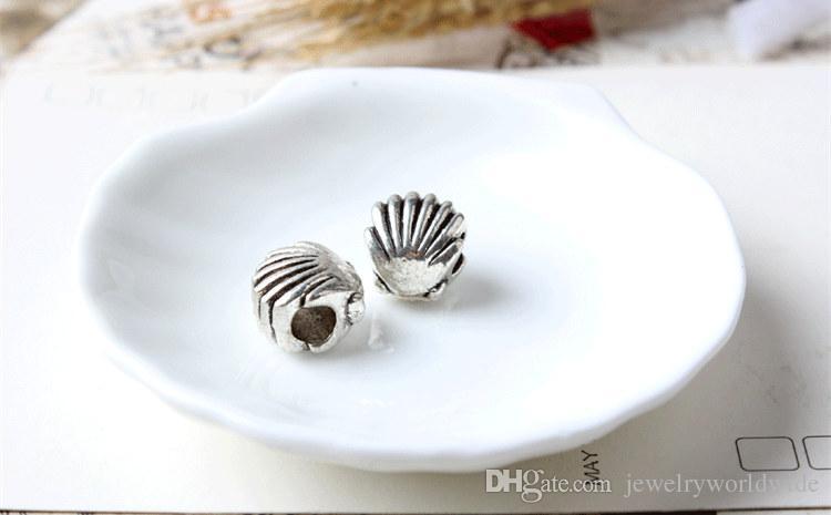 Cute Sea Shell Alloy Charm Bead Fashion Women Jewelry Stunning Design European Style For Pandora Bracelet Necklace