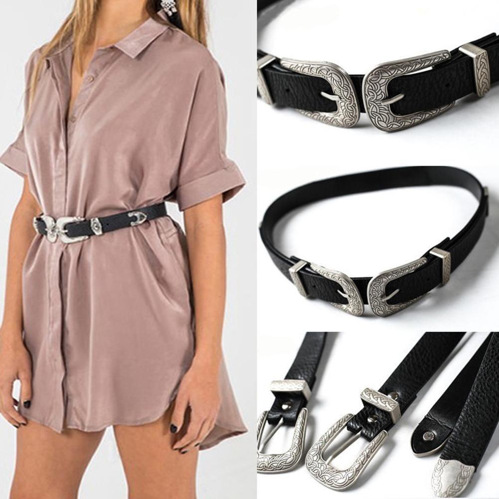 e38e60a70d5d5 Women Faux Leather Single/Double Buckle Western Cowgirl Waist Belt  Waistband Belt Buckle Weight Belt From Jianyue16, $38.76| DHgate.Com