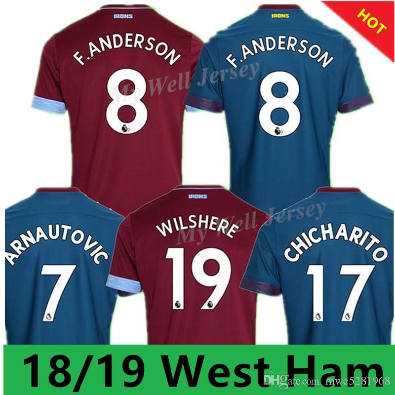 New West Ham Soccer Jersey 2018 19 West Ham United Soccer Shirt  17 ... 55d0fd29f