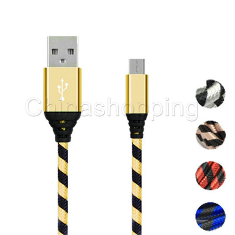 Fast Charging High Quality 0.25m 1m 2m 3m Micro USB Charger Data Cable Braid Cord Cable