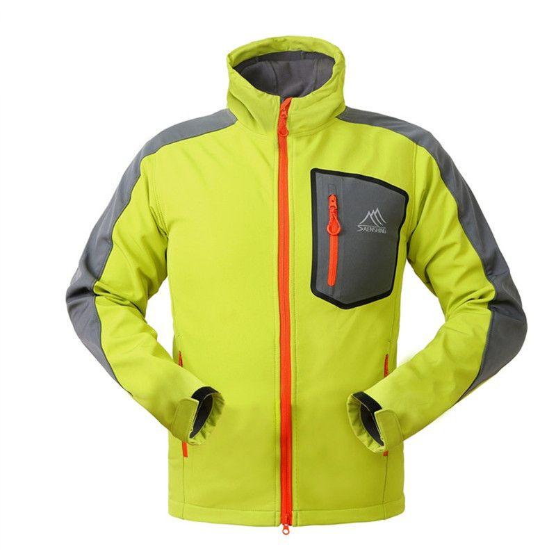 0bd519f5e Winter 2018 Waterproof Softshell Jacket Men's Windbreaker Breathable Fleece  Warm Rain Coat Fishing Windstopper Outdoor Camping Hiking