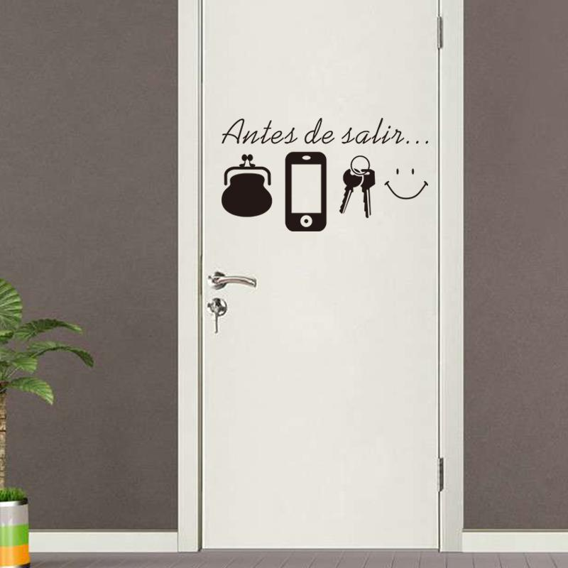 Spanish English Vinyl Quotes Wall Stickers Home Living Room Door