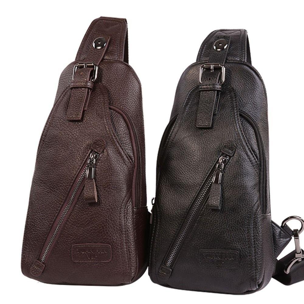 54c653131d816 Satın Al Erkekler Hakiki Deri Inek Derisi Moda Seyahat Göğüs Paketi Sling  Geri Paketi Sürme Çapraz Vücut Messenger Tek Omuz Çantası, $39.23 |  DHgate.Com'da