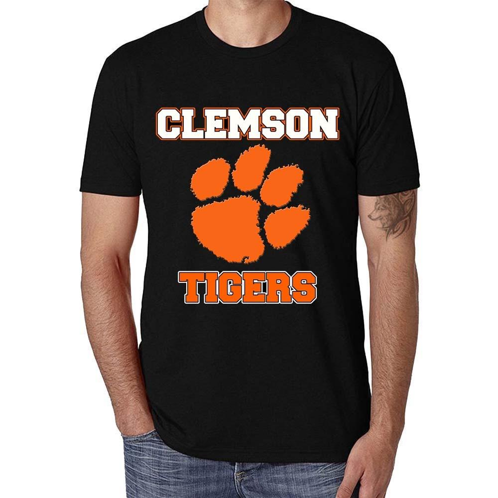 cc81b0062 Solid Color Graphic Tee Fashion Casual Clemson Wholesale Discount Men's T  Shirt New 2018 Funny Men High Quality Tees