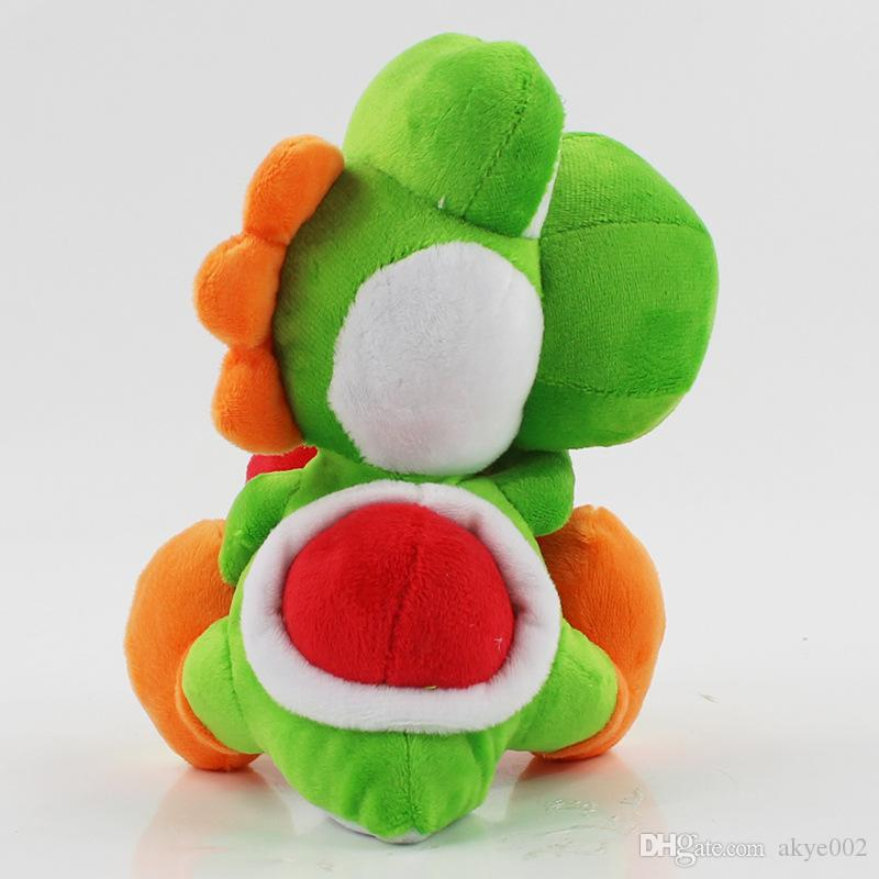 Hot Sale 27cm Yoshi Holding The Apple Super Mario Bros Plush Stuffed Doll Toy For Kids Best Holiday Gifts