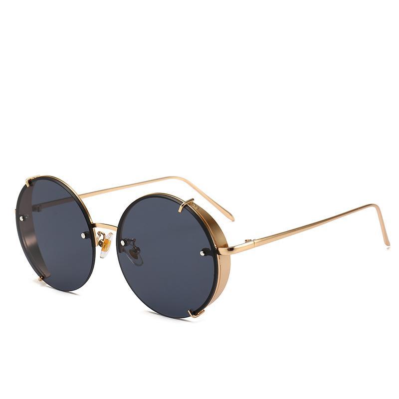 Compre 2019 Luxo Rodada Do Punk Óculos De Sol Das Mulheres Designer De  Marca Retro Vintage Óculos De Sol Espelho Óculos De Sol Óculos De Sol  Feminino ... 02391442fb