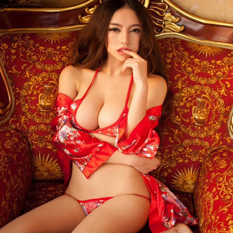 Free Ship Japanese Kimono Erotic For Women Sexy Lingerie Hot Porn Audlt Sex Clothes Slutty Dresses Sexy Costumes Nuisette Bra And Pant Set Sexy Costumes