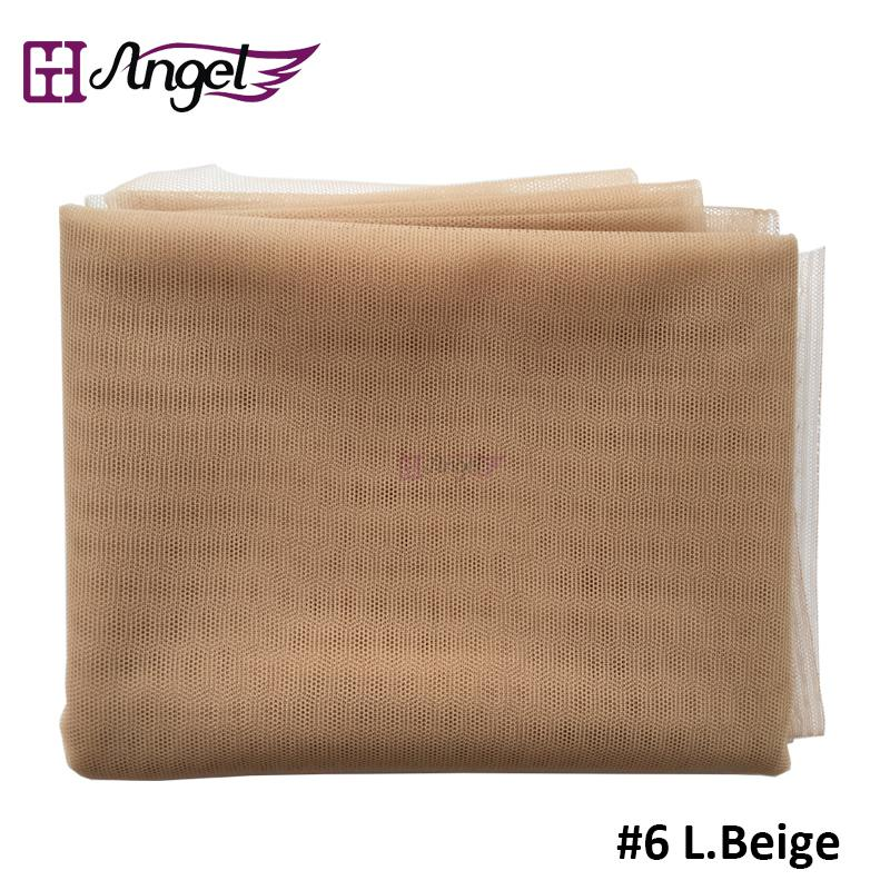 Angels Swiss Lace Net For Wig Making And Wig Caps Lace Wigs Material Lace Closure Accessories 7 Colors Available Beige
