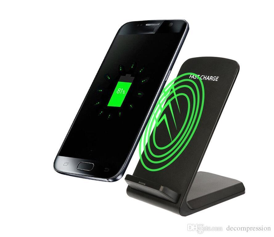 2 Катушки Беспроводное зарядное устройство для быстрого Ци беспроводной зарядки Подставка Pad для X 8 8Plus Примечание 8 S8 S7 все Qi с поддержкой смартфонов HOT SALE