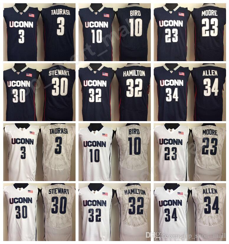 f3bb1bebb87 2019 Uconn Connecticut Huskies Jerseys Kemba Walker 15 College 10 Sue Bird  3 Diana Taurasi 30 Breanna Stewart Ray Allen 34 Basketball Jerseys From ...