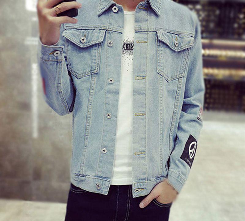 Automne Hommes Hommes Acheter Coréen Jeans Veste Vestes Style Denim xzgXB4q
