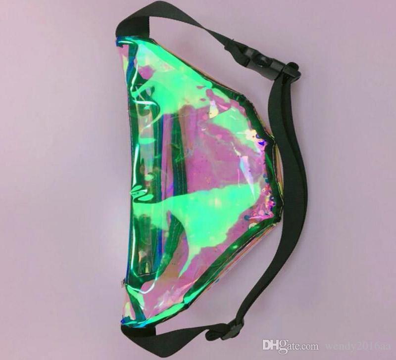 2018 New Desinger Women Laser Quicksand Fanny Waist Bags Bling Bling Chest Bag Festival Hologram Bag size 30*15*10cm