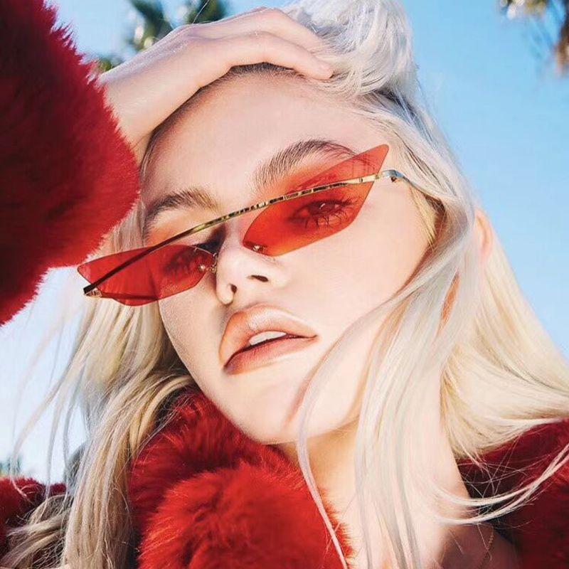 Women's Glasses Quality 2018 Cat Luxury Brand Design Women Men Sunglasses Girl Eye Sun Glasses Small Ladies Square Retro Hexagon Retro Red Blue Online Shop Women's Sunglasses