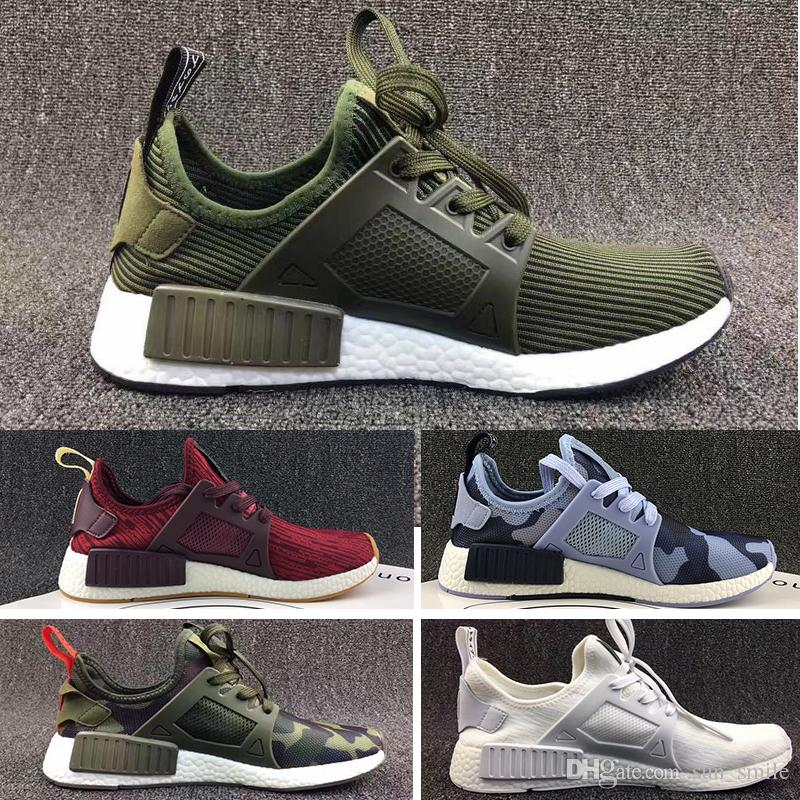 693d3f7f17ac1 2017 NMD XR1 Running Shoes Mastermind Japan Skull Fall Olive Green ...