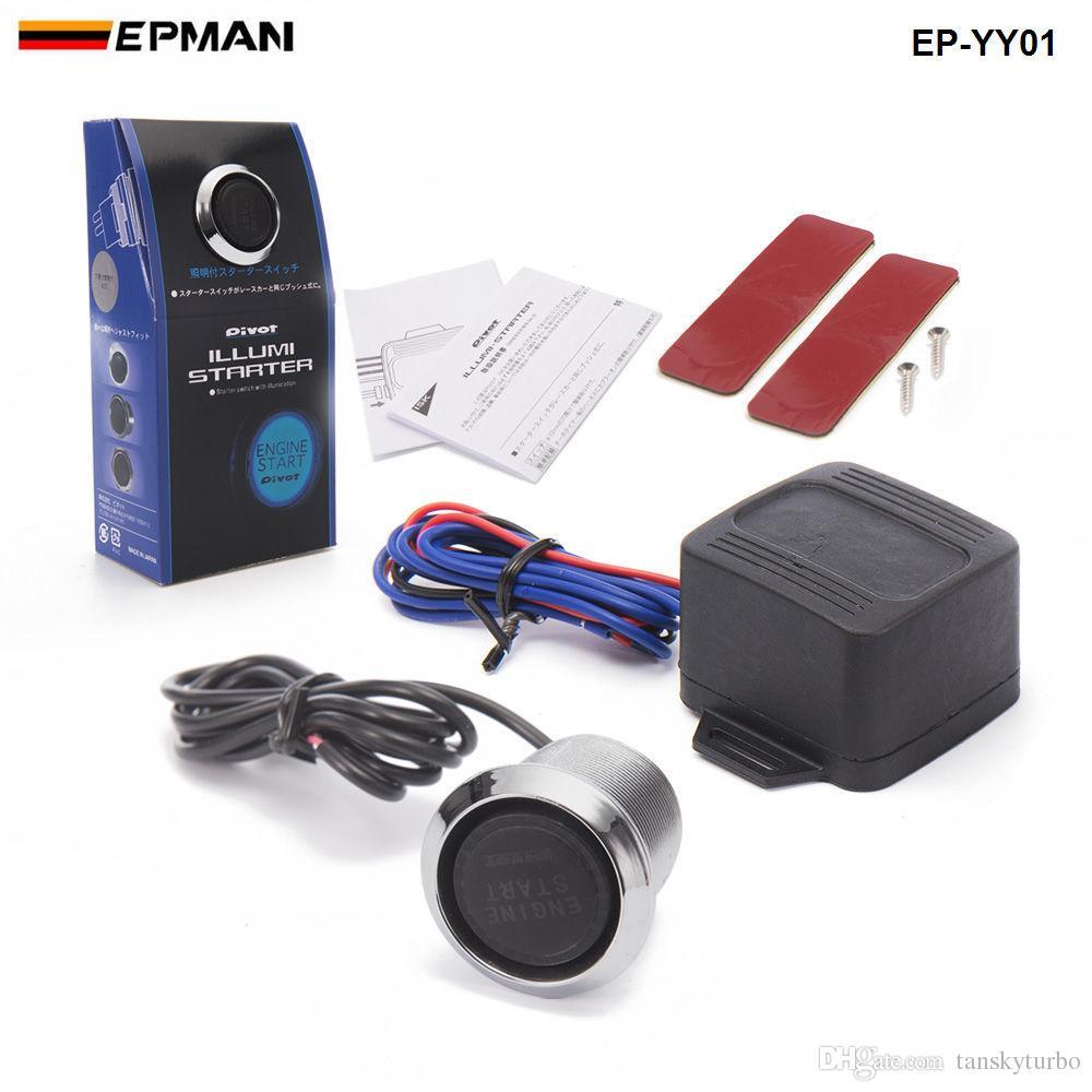 Tansky -PIVOT Blu / Rosso Auto illuminazione motore avvio interruttore a pulsante accensione avviamento kit tattile TK-YY01