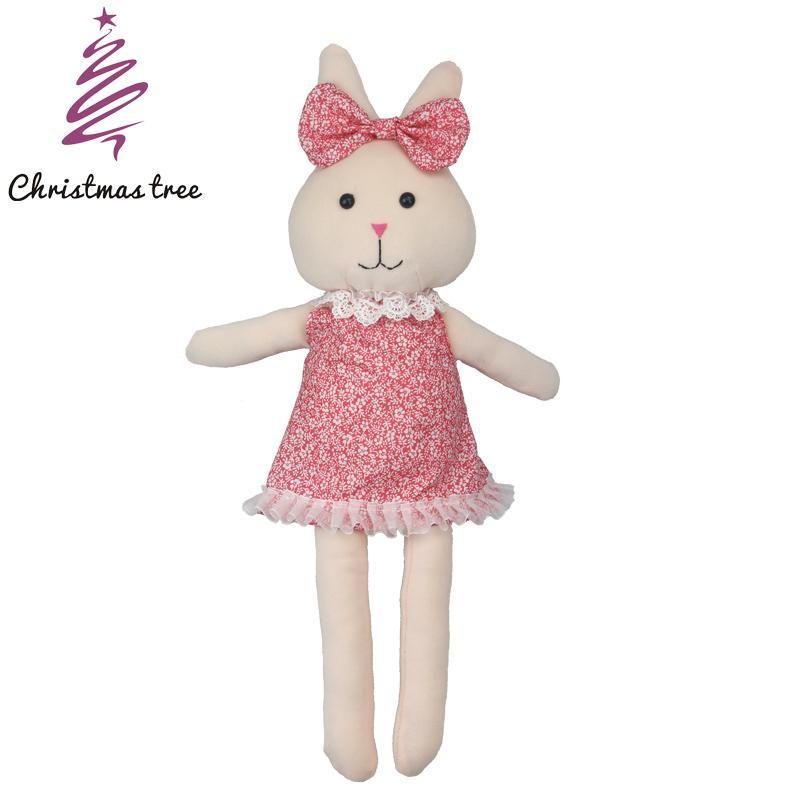 2019 Christmas Tree Cute Bunny Plush Rabbit Toy Soft Dolls Stuffed