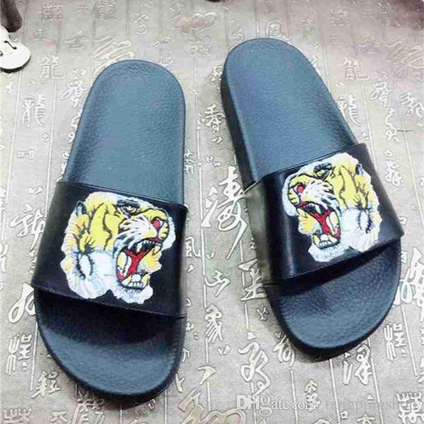 c8cb12ff22300c 2018 Men Women Tiger Wolf Cat Dog Head Causal Brand Sandals Summer  Huaraches Slippers Flip Flops Slipper Best Qaulity 35 44 Mens Sandals Reef  Sandals From ...