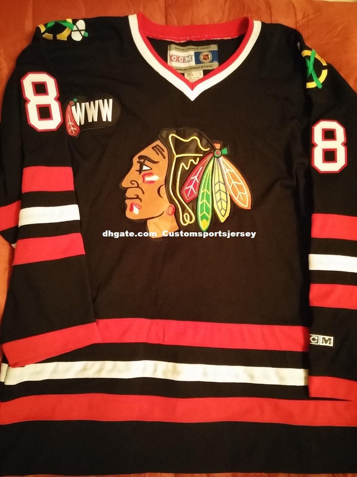 94895f2d2 Cheap Custom Chicago Blackhawks Patrick Kane  88 Jersey Mens ...