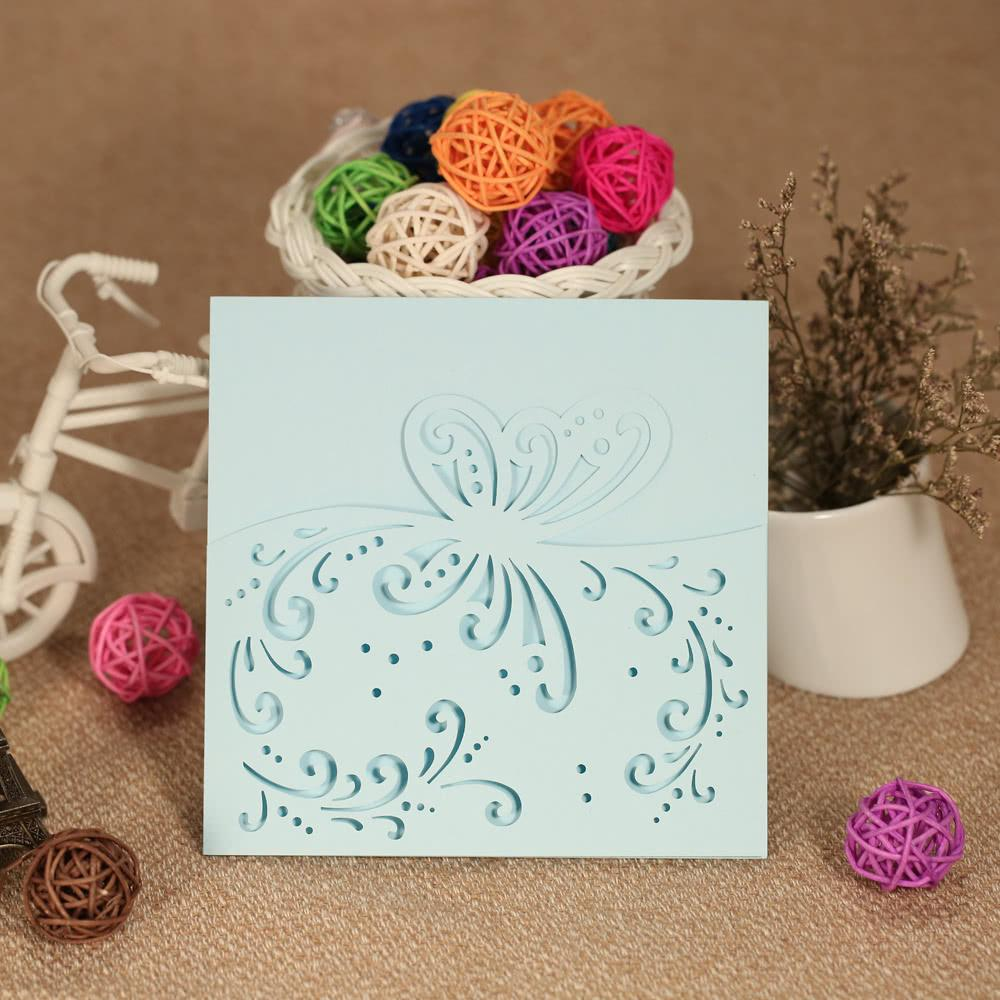 Romantic Wedding Invitation Cards Exquisite Carved Butterfly Pattern ...