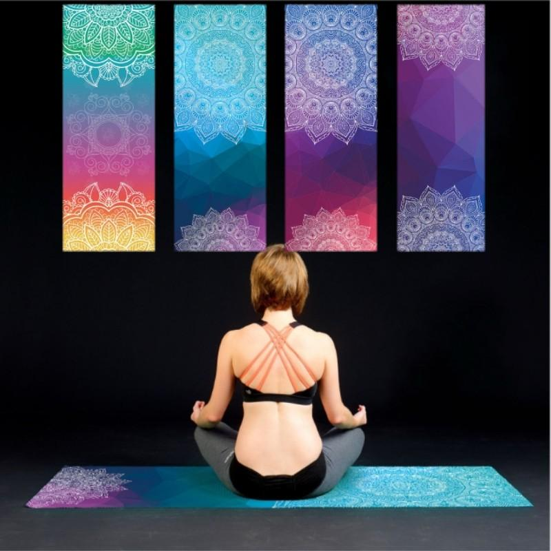 Portable Yoga Mat Towel Sport Fitness Dance Anti-slip Mat Gym Exercise Pilates Workout Printing Training Blanket Soft Towel
